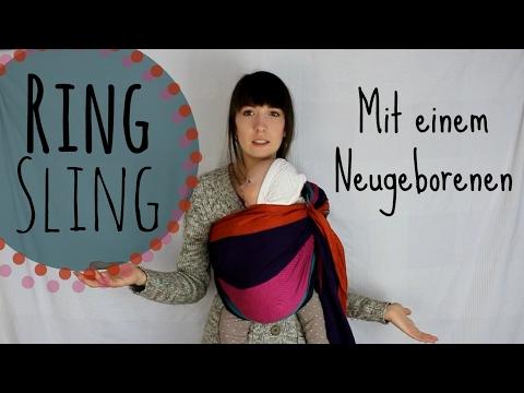 RING SLING (gekippt)   Anleitung und Tipps   Tragetuch binden