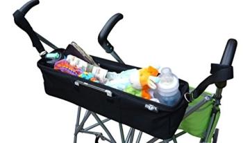 BTR Kinderwagen-Organiser / Tasche für Zwillilngskinderwagen am buggy