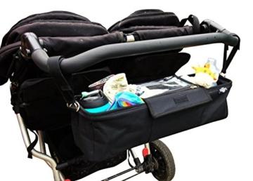 BTR Kinderwagen-Organiser / Tasche für Zwillilngskinderwagen am doppelkinderwagen
