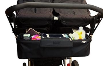 BTR Kinderwagen-Organiser / Tasche für Zwillilngskinderwagen divers