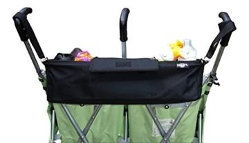BTR Kinderwagen-Organiser / Tasche für Zwillilngskinderwagen variabel