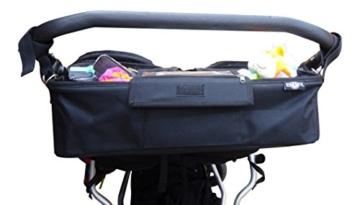 BTR Kinderwagen-Organiser / Tasche für Zwillilngskinderwagen von hinten