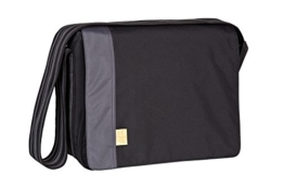 Lässig Casual Messenger Bag Wickeltasche black