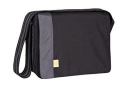 Lässig Casual Messenger Bag Wickeltasche black