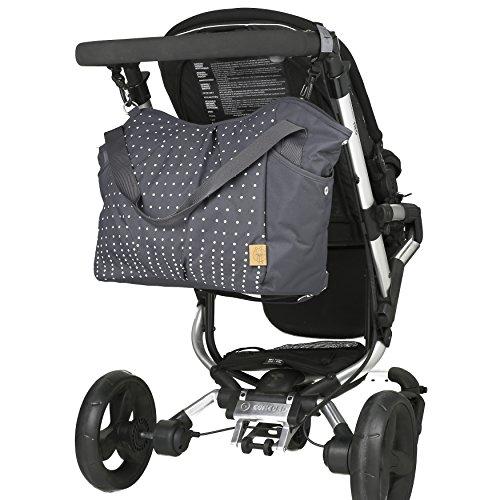 lässig casual zwillings-wickeltasche am kinderwagen