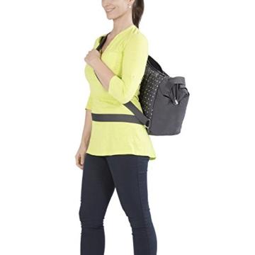 lässig casual zwillings-wickeltasche getragen