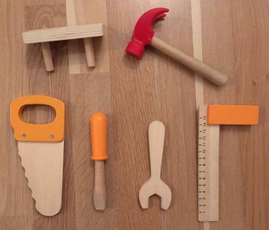 Hape Meister Werkbank Test Werkzeug