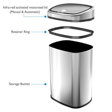 1home-infrarot-kuechenabfaelle-muelleimer-abfalleimer-automatisch-abfallsammler-kuecheneimer-edelstahl-aufbau