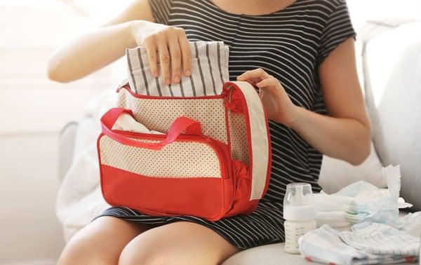 Wickeltasche oder Wickelrucksack
